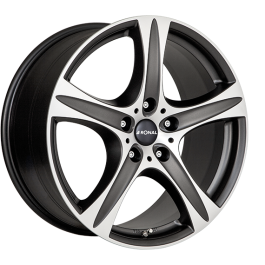 Ronal R55 SUV MATT BLACK FACE-CUT 8.5×18 ET: 45 – 5×112