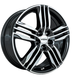 Ronal R57 BLACK FACE-CUT 7.5×18 ET: 24 – 4×108