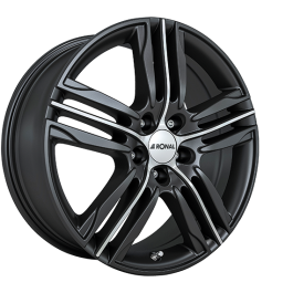 Ronal R57 MATT BLACK FACE-CUT 7.5×18 ET: 24 – 4×108