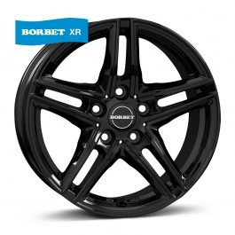 Borbet XR black glossy 7.5×17 ET: 28 – 5×112