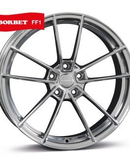 Borbet FF1 stainless polished 8.5×19 ET: 35 – 5×112