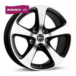 Borbet CC black polished matt 8.5×18 ET: 45 – 5×120