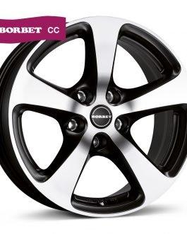 Borbet CC black polished matt 8.5×18 ET: 50 – 5×130