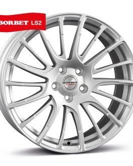 Borbet LS2 brilliant silver 8×17 ET: 45 – 5×108