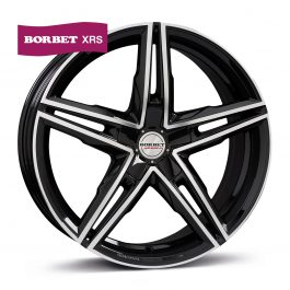 Borbet XRS black polished glossy 9.5×19 ET: 45 – 5×114.3