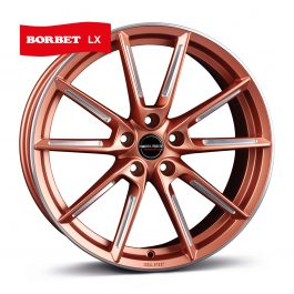 Borbet LX copper matt spoke rim polished 8×19 ET: 44 – 5×112