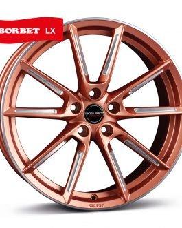Borbet LX copper matt spoke rim polished 8×19 ET: 45 – 5×108