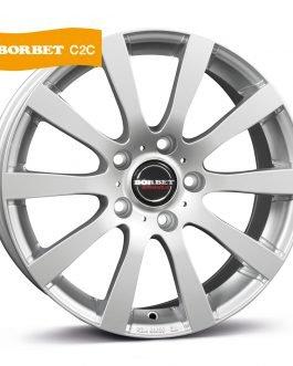 Borbet C2C brilliant silver 7.5×17 ET: 50 – 5×114.3