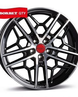 Borbet GTY black rim polished glossy 8.5×19 ET: 45 – 5×112