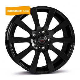 Borbet C2C black glossy 7.5×17 ET: 50 – 5×130