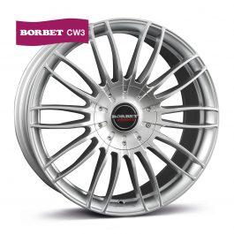 Borbet CW 3 sterling silver 8.5×19 ET: 40 – 5×114.3