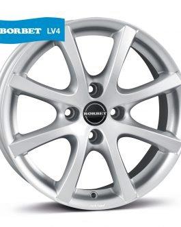Borbet LV4 crystal silver 6.5×15 ET: 35 – 4×100