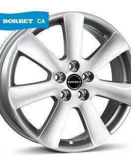 Borbet CA crystal silver 6.5×15 ET: 40 – 5×112