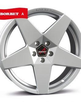Borbet A brilliant silver 8×17 ET: 30 – 5×112