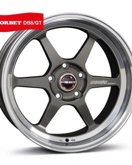 Borbet DB8GT graphite rim polished 8.5×18 ET: 25 – 5×112