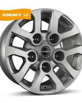 Borbet LD silver 8×16 ET: 5 – 5×165.1