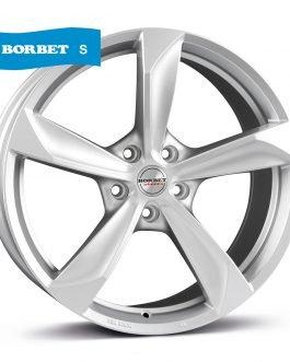 Borbet S brilliant silver 8×17 ET: 40 – 5×114.3