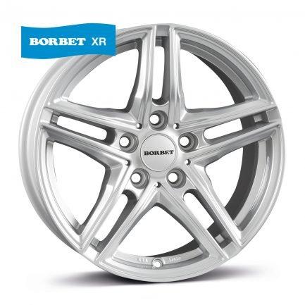 Borbet XR brilliant silver 7x16 ET: 31 - 5x120