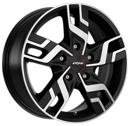 Ronal R64 Dull Black / Polished 7.0×17 ET: 60 – 5×118