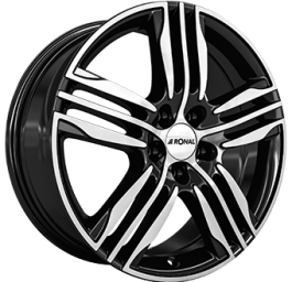Ronal R57 Gloss Black / Polished 7.5×18 ET: 24 – 4×108