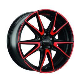 Speedline Corse SL6 Vettore MCR JETBLACK MATT RED SPOKE 9.5×19 ET: 45 – 5×112