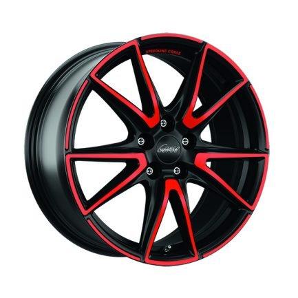 Speedline Corse SL6 Vettore MCR JETBLACK MATT RED SPOKE 8.5x19 ET: 42 - 5x108