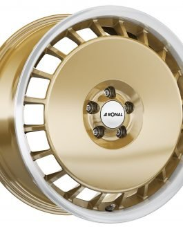 Ronal R50 AERO RACING GOLD RIM-CUT 7.5×16 ET: 38 – 5×100