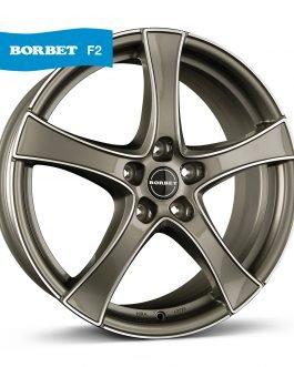 Borbet F2 graphite polished 6×16 ET: 48 – 5×112
