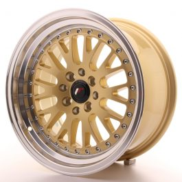 JR Wheels JR10 16×8 ET20 4×100/108 Gold w/Machined Lip