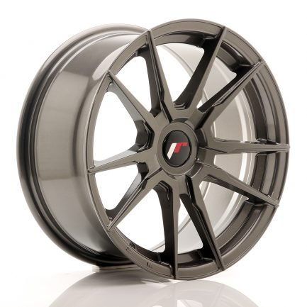 JAPAN RACING JR Wheels JR21 17x8 ET35 Blank Hyper Gray 8.00x17