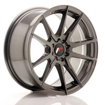 JAPAN RACING JR Wheels JR21 17x8 ET25 4x100/108 Hyper Gray 8.00x17