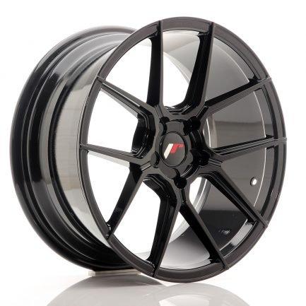 JAPAN RACING JR Wheels JR30 18x8,5 ET40 5H BLANK Glossy Black 8.50x18
