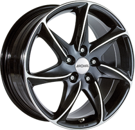 Ronal R51 Gloss Black / Polished 8.0×17 ET: 33 – 5×108