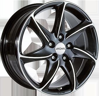 Ronal R51 Gloss Black / Polished 6.5x15 ET: 38 - 4x100