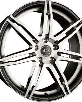 TEC Speedwheels GT2 Black polished CB: 64.0 7.5×17 ET: 38 – 5×100