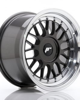 JR Wheels JR23 16×9 ET20-35 BLANK Hyper Gray w/Machined Lip
