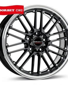 Borbet CW 2 black rim polished 7×17 ET: 20 – 4×108