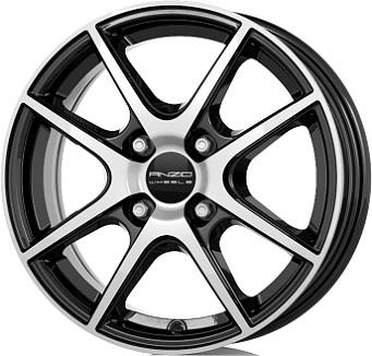 ANZIO SPLIT Gloss Black / Polished 6.0x15 ET: 38 - 4x100