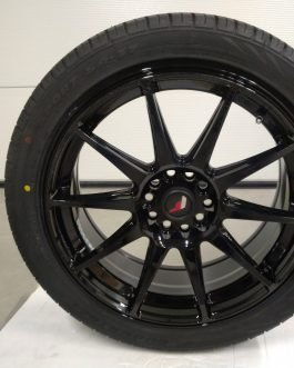 JR Wheels JR11 18×7,5 ET40 5×112/114 Gloss Black 4kpl + Goodride 225/45-18