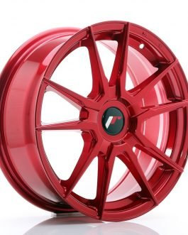 JR Wheels JR21 17×7 ET35-40 BLANK Platinum Red