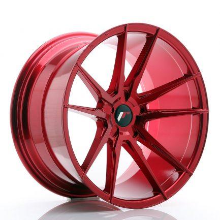 JAPAN RACING JR Wheels JR21 20x11 ET20-30 5H BLANK Platinum Red 11.00x20
