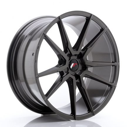 JAPAN RACING JR Wheels JR21 21x10 ET15-48 5H Blank Hyper Gray 10.00x21
