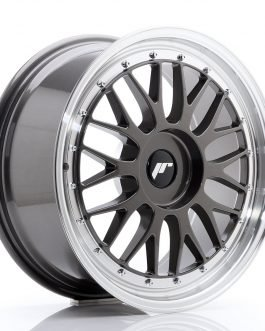 JR Wheels JR23 18×8 ET30-45 BLANK Hyper Gray w/Machined Lip