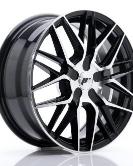 JR Wheels JR28 17×7 ET20-45 BLANK Black Machine