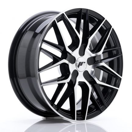 JAPAN RACING JR Wheels JR28 17x7 ET20-45 BLANK Black Machine 7.00x17