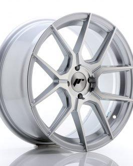 JR Wheels JR30 17×8 ET40 4×100 Silver Machined Face