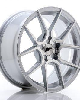 JR Wheels JR30 17×8 ET20-40 5H BLANK Silver Machined Face