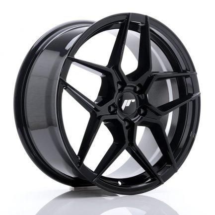 JAPAN RACING JR Wheels JR34 18x8 ET42 5x112 Glossy Black 8.00x18