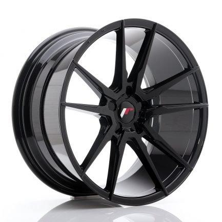 JAPAN RACING JR Wheels JR21 20x10 ET20-40 5H BLANK Gloss Black 10.00x20