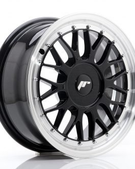 JR Wheels JR23 16×7 ET20-45 BLANK Gloss Black w/Machined Lip